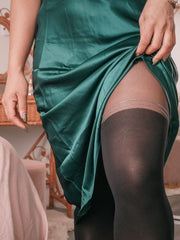 Collants — Cuissardes rayures scintillantes
