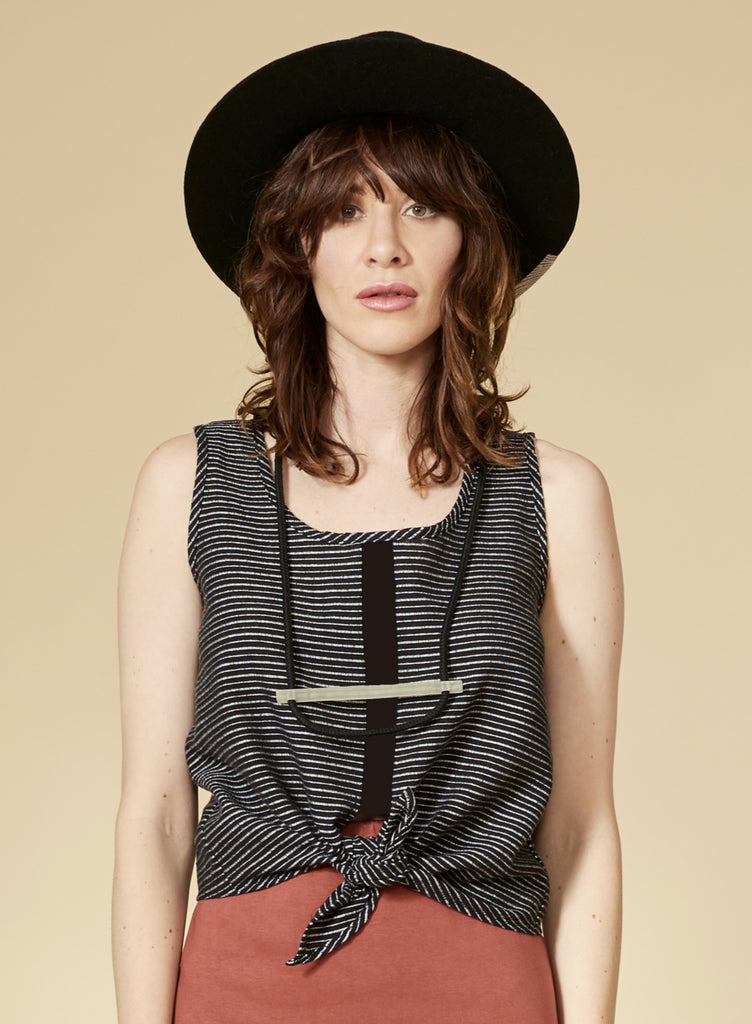 OASIS Top — Black Striped