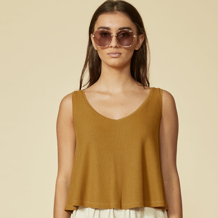 Camisole OCTAVE - Curry