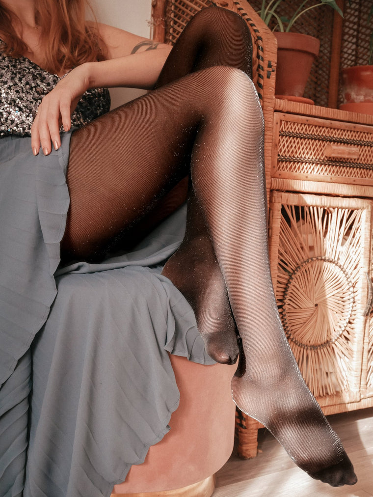 Tights - Gliterring black
