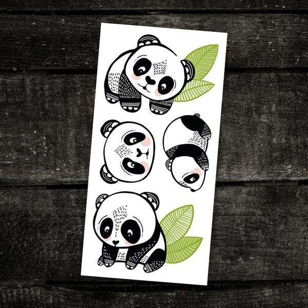 Temporary tattoo - Pandas