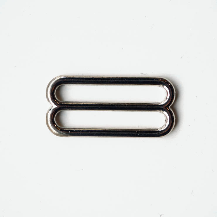 Double metal rectangle for webbing bag strap - 1 1/2