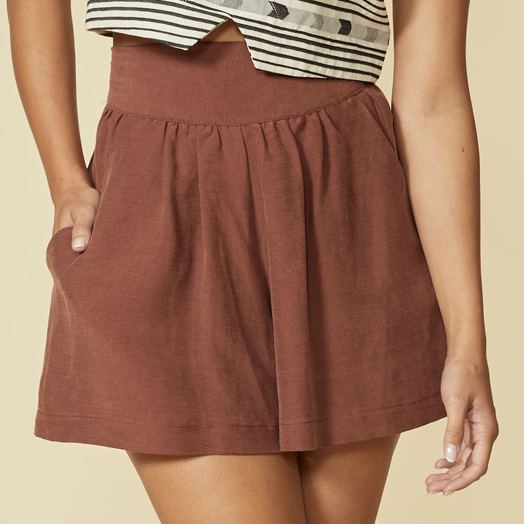 PEACHLAND divided skirt - Paprika