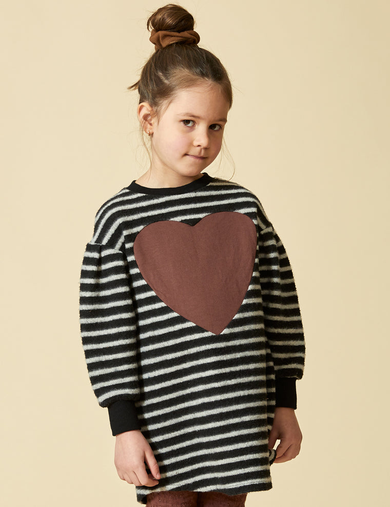 Tunic PETITE OURSE - Striped Fleece
