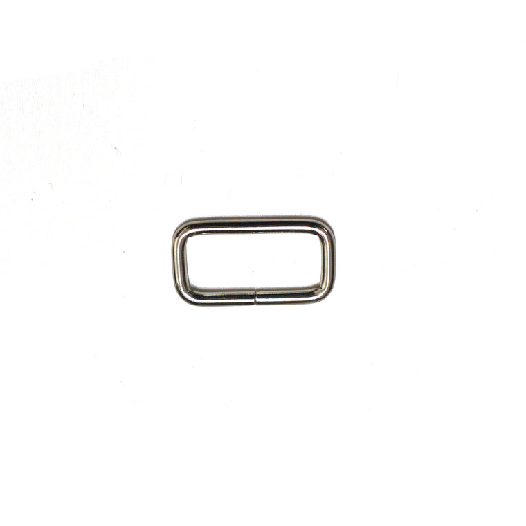 Metal rectangle for webbing bag strap - 1 inch