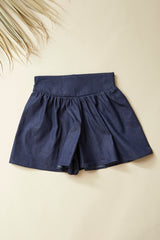 TOPI Divided Skirt — Dark Denim