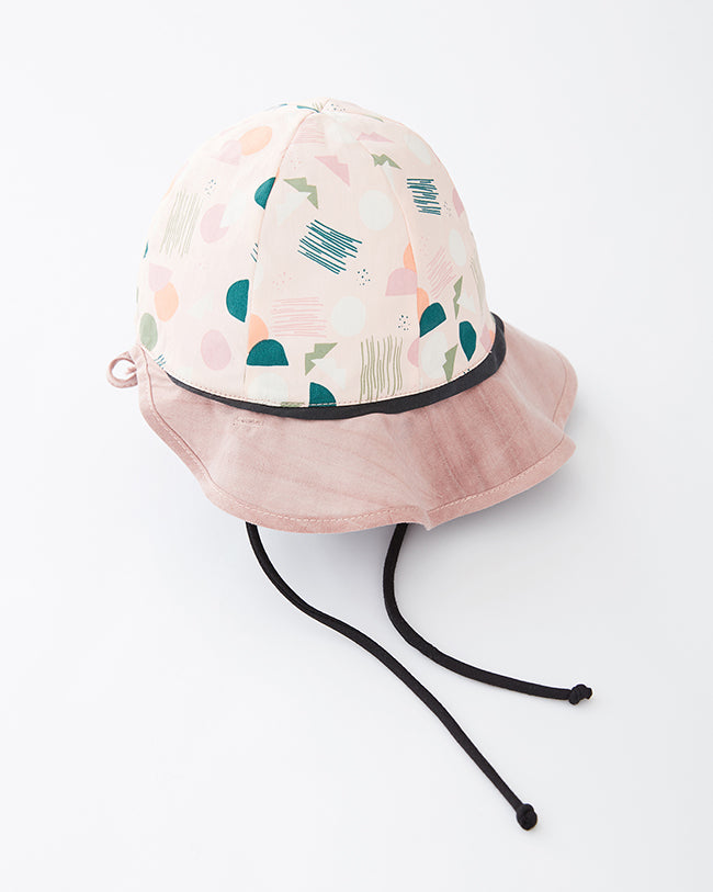POLYGONE reversible hat - Pink