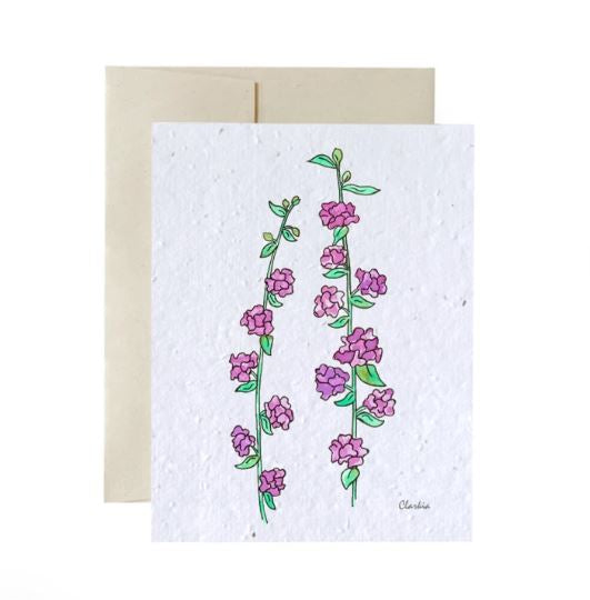 Plantable card - Clarkia
