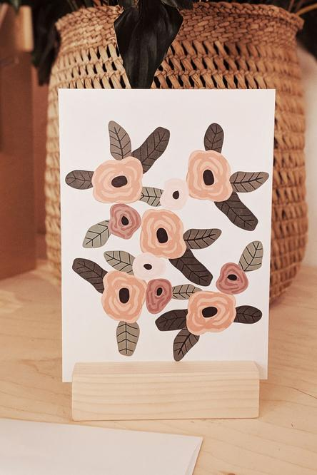 Greeting card - Spring flower