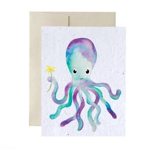 Plantable card - Octopus