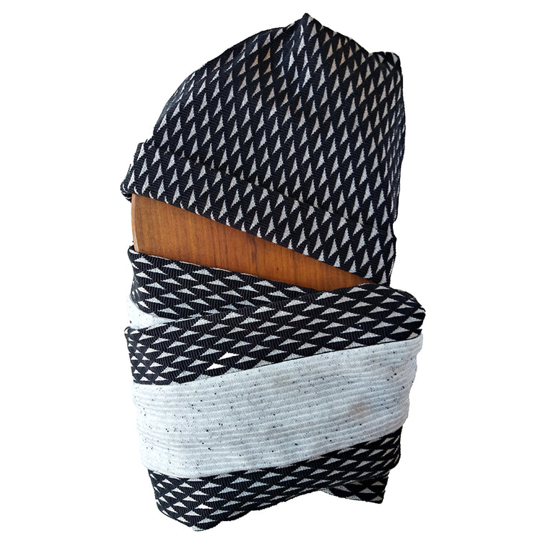 Foulard COLZA Noir Triangles