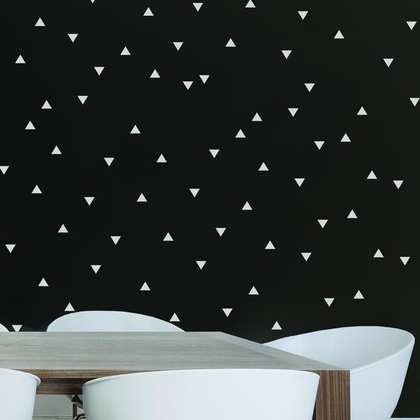 Tatouage mural — Triangles blancs