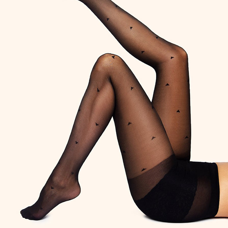Collants - Triangles - Noir