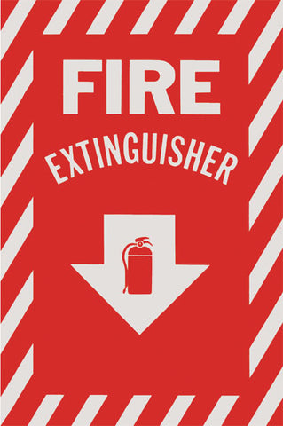 Fire Extinguisher Signs With Arrow