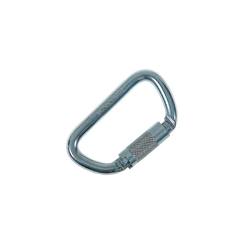 "Stainless Steel Offset ""D"" Carabiner"