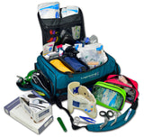 MB65 Modular Oxygen Trauma Bag, Removable Colored Pouches and Advanced Fill Kit w/ Oxygen Cylinder and Regulator - LXMB65-SKD