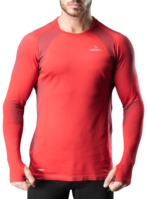 Playera Caballero Manga Larga Hard Running