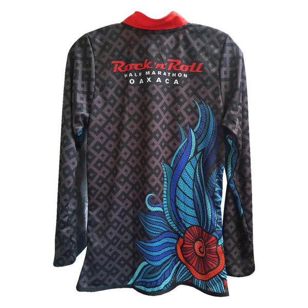 Playera Tech RR Oax Caballero Negra ML