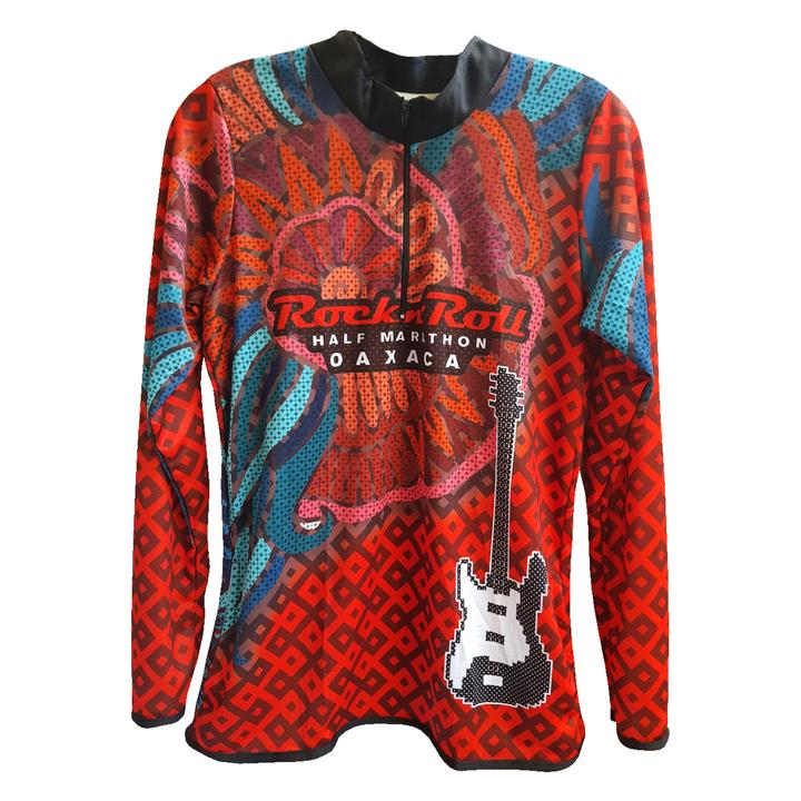 Playera Tech RR Oax Caballero Roja ML