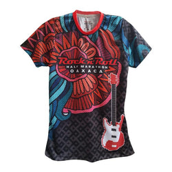 Playera Tech RR Oax Dama Negra