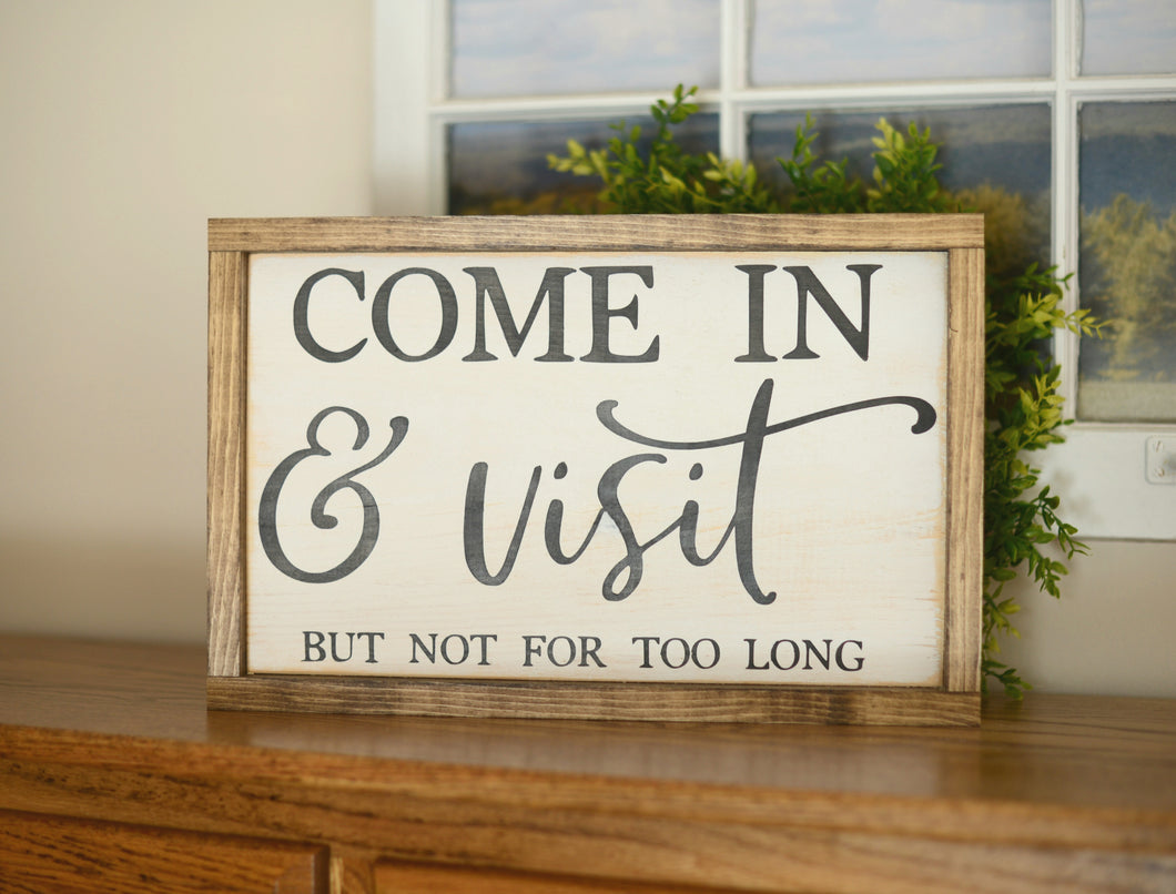 Entry Wood Sign - Entry Decor - Entry Wall Decor