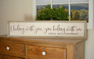 Sweetheart Wood Sign - Love Wood Sign - Above the Bed Sign - Bedroom Decor