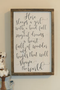Girl Bedroom Sign - Girl Bedroom Wall Art