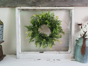 Farmhouse Window with Wreath