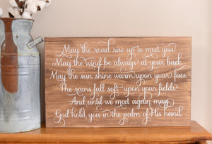 Irish Blessing Wood Sign
