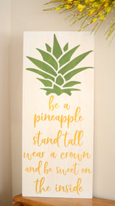 Pineapple Wood Sign