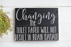 Bathroom Wood Sign -Bathroom Decor - Toilet Sign