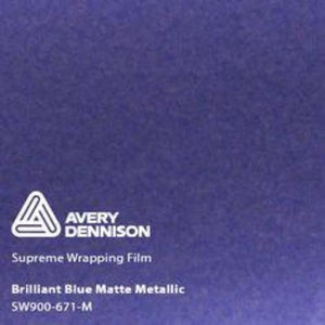 Avery Brilliant Blue Matte Metallic