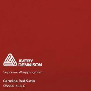 Avery Carmine Red Satin