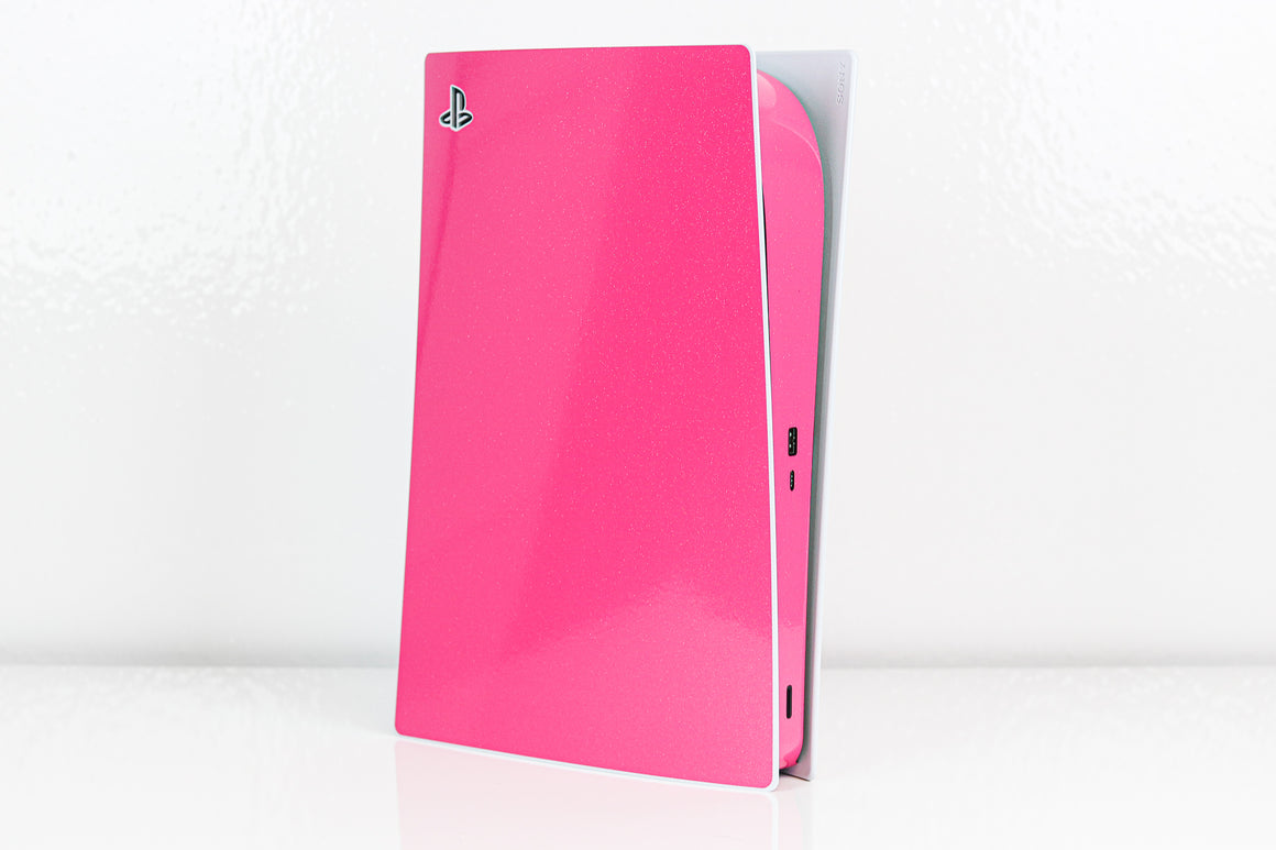 PS5 Fluorescent Sparkle Pink Skin