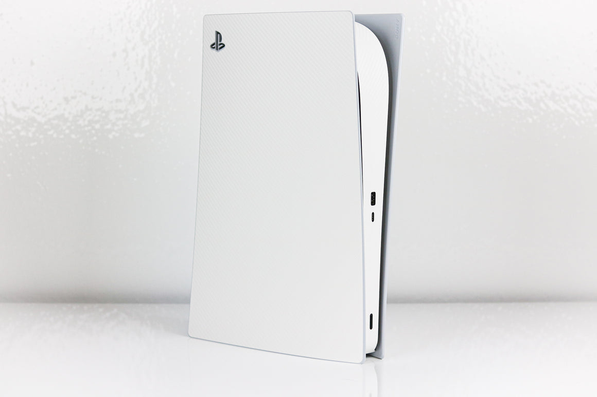 PS5 White Textured Carbon Fiber Skin