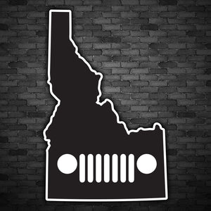 Idaho Jeep Decal
