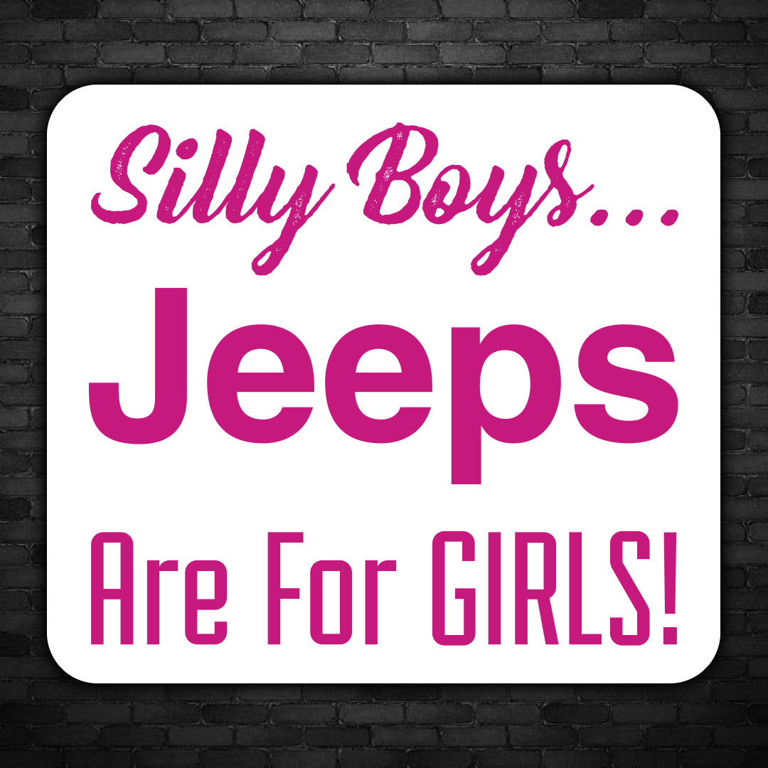 Jeep Are For Girls Decal