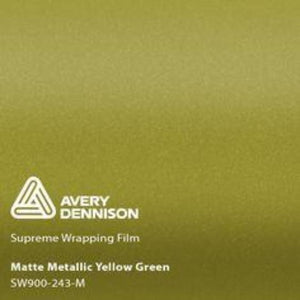 Avery Matte Yellow Green Metallic