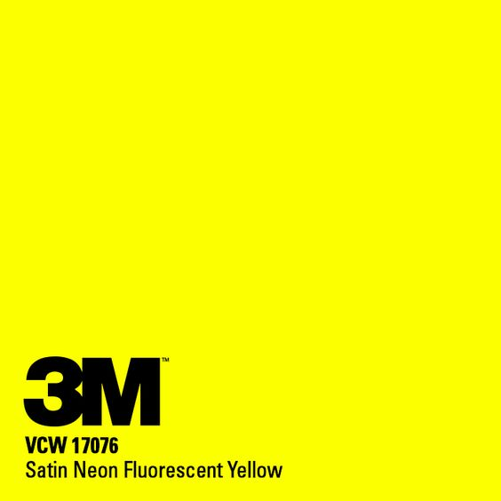 3m Satin Neon Fluorescent Yellow Cw Wraps