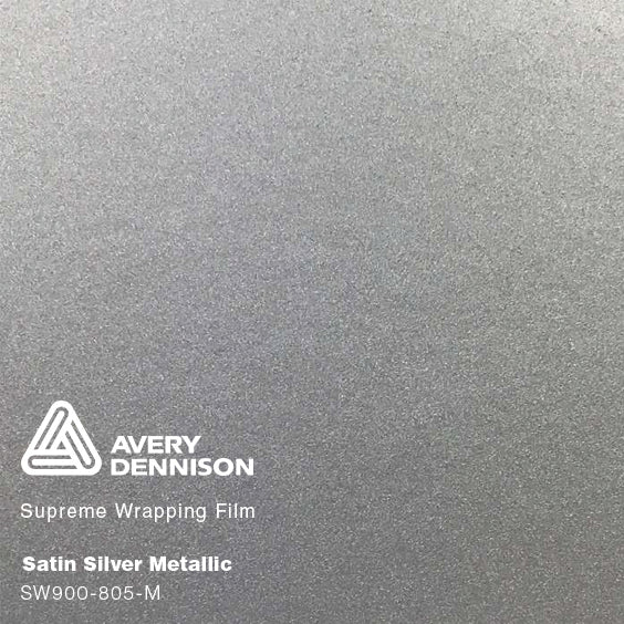 Avery Satin Silver Metallic
