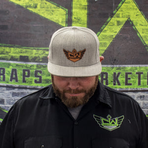 CW Branded Flat Bill Snapback Hat