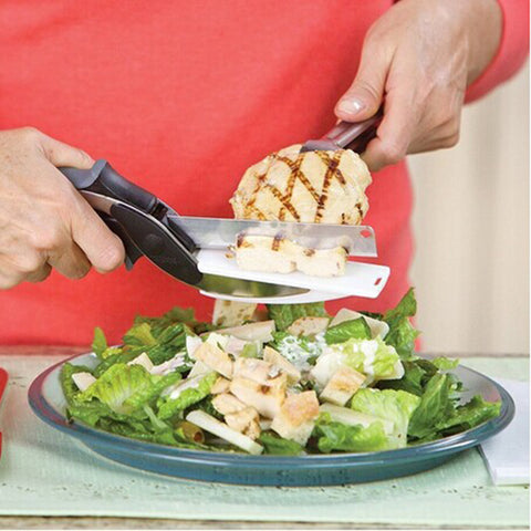 3-in-1 Knife + Scissors + Cutting Board