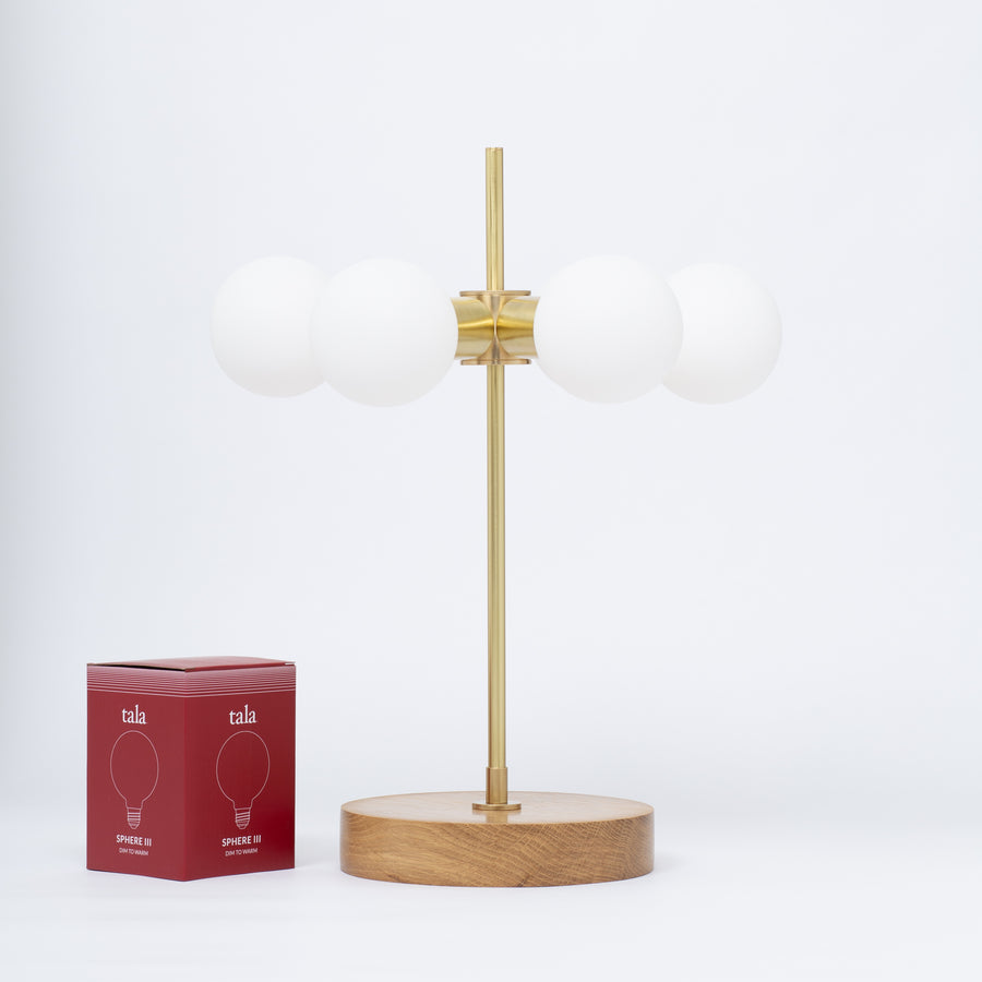 Six Sphere Dim To Warm Table Lamp
