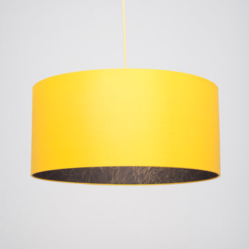 Sunflower yellow silk gold wavy lining lampshade