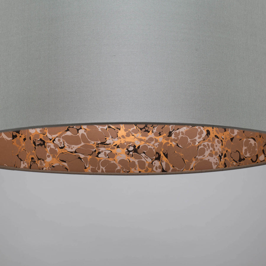 Dove grey copper marble lampshade