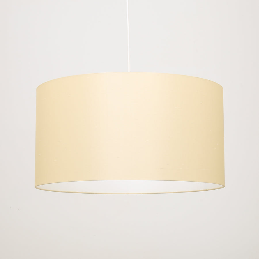 Buttermilk warm white silk lampshade