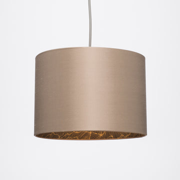 Herb silk gold wave illustration lampshade