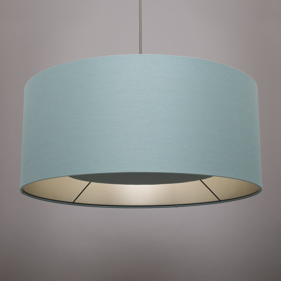 High tide blue silk champagne lining lampshade