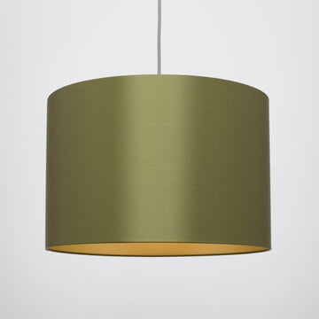 Avocado satin silk gold lining lampshade