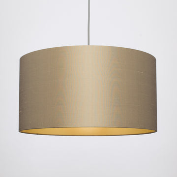 Bronze silk gold lining lampshade
